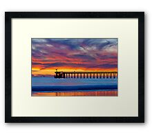 Bacara (Haskell's ) Beach and pier, Santa Barbara Framed Print