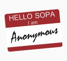 Hello SOPA i am Anonymous by personalized