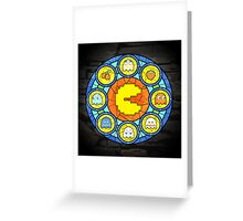 In the House of Wakka Wakka Wakka - Pac-man Stained Glass Greeting Card