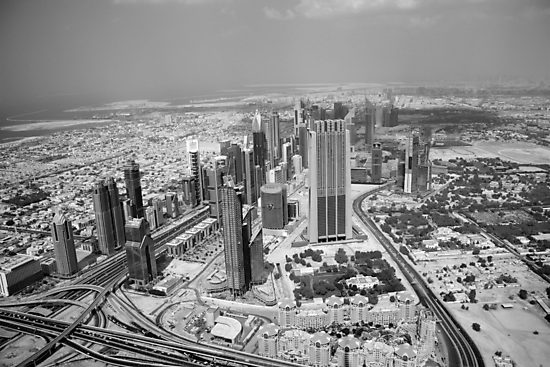Dubai view from above  by sylvianik