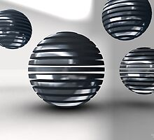 Gridded Spheres by Eric Nagel