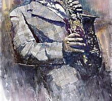 Jazz Saxophonist Charlie Parker by Yuriy Shevchuk