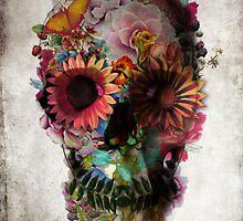 Floral Skull by Ali Gulec