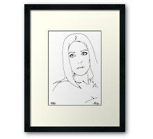 gillian anderson pen out line Framed Print