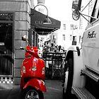 Red Vespa by J-MePhotography