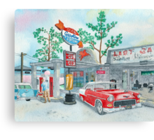 1950's Chevrolets Canvas Print