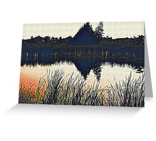 Evening Reflection Greeting Card