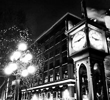 Gastown Clock (black & white) by RockstarJedi