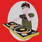 Cartoon DJ on Decks by its-mr-towel