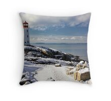 Snow Capped Peggy's Throw Pillow