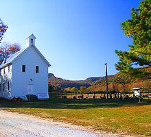 Boxley Baptist Church  at Boxley Valley near Ponca, Arkansas by DonCondley