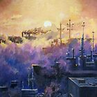 Warships at dawn by Dan Wilcox