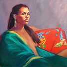 Tamara in the Green Kimono by Roz McQuillan