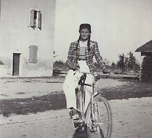 My mom bicycling 70 years ago...&-2500 visualizzaz. dicembre  2012 --VETRINA RB EXPLORE 27 GENNAIO 2012 --- by Guendalyn