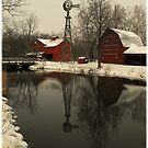 A winter scene in Indiana..(Cyberspace is no place for the real world...Plastic minds got no soul..Electric hearts beat in time on the last day..They can&#x27;t see any way) by jammingene