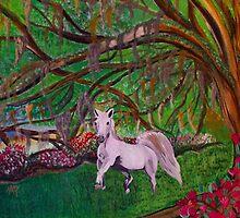 Magnolia Plantation Fantasy Garden by Karen L Ramsey