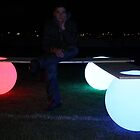 Glowing Light Ball Bench by Manfred Kielnhofer by kielnhofer