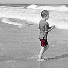A Boy at the Beach by rosaliemcm