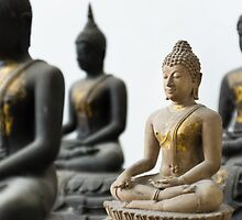 Light Stone Buddha focus and Three Dark out by nuttakit