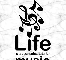Music v Life - Marble by Ron Marton
