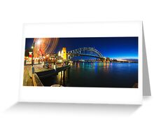 Sydney Harbour Panorama from Luna Park Greeting Card