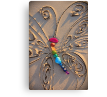 The Rainbow Stone Healing Butterfly Canvas Print