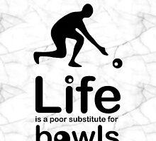 Bowls v Life - Marble by Ron Marton