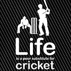 Cricket v Life - Carbon Fibre Finish by Ron Marton