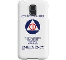 Civil Defense Carrier Samsung Galaxy Case/Skin