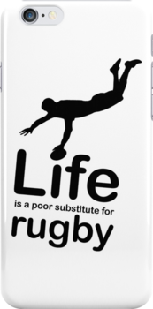 Rugby v Life - White by Ron Marton