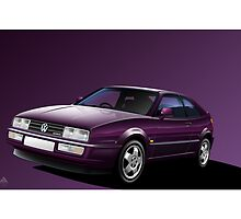 VW Corrado VR6 Coupe Poster by Autographics