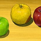 Fancy Apple Trio by bernzweig