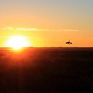 Girocopter in the sunset...  by Qnita