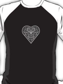Ironwork heart white T-Shirt