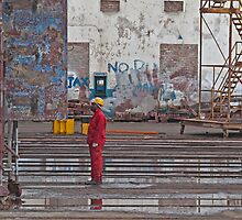 Yellow hardhat by awefaul