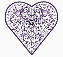Ironwork heart purple by venitakidwai1
