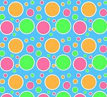 Rainbow Sherbet Polka Dots  by runninragged