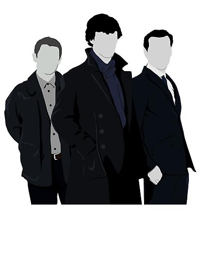 Sherlock,John and Jim by drawingdream