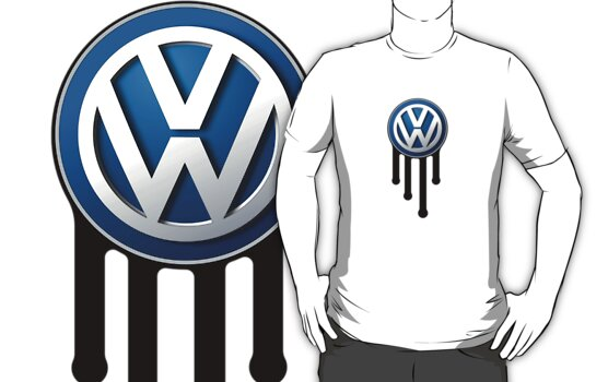 Blue VW Drip Logo by Volkswagen Guy