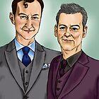 Mycroft & Lestrade by Macpye