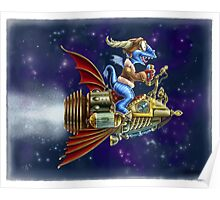 Verne's Steamrocket Poster