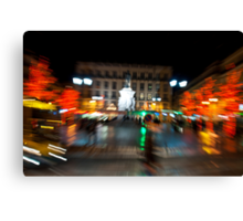 Lisbon downtown during Christmas Canvas Print