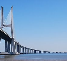 Vasco da Gama Bridge in Lisbon by luissantos84