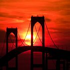 Newport (Pell) Bridge Silhouette by Eric Full