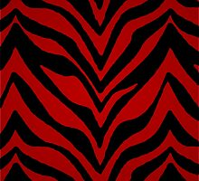 Red Zebra Print by runninragged
