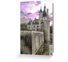 Reflecting On Chenonceau ( 4 ) Greeting Card