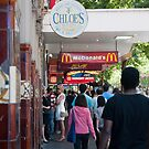 Fast Food Strip, Swanston Street by helenmentiplay