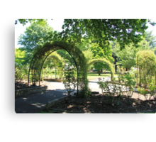 Arches in the Park, Lithgow Canvas Print