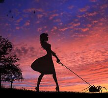 Walking With My Baby On Sunset by Rookwood Studio ©