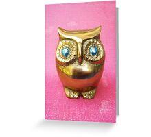 Owl. Pink. Greeting Card